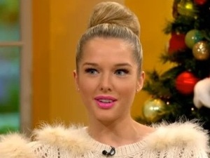 Miss Mode: Helen Flanagan appears on Daybreak - 12 December 2012