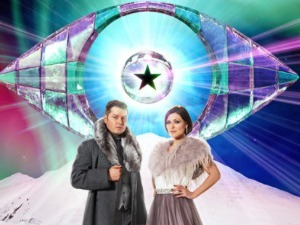 Brian Dowling and Emma Willis infront of new C5 CBB logo