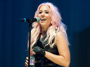 Amelia Lily performs to a packed crowd at the LG Arena in Birmingham for Free Radio live 2012