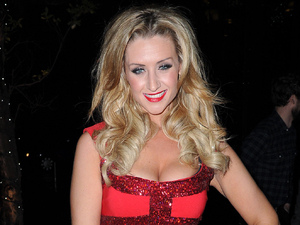 Catherine Tyldesley arrives at the Hilton hotel for the &#39;Coronation Street&#39; Christmas party.