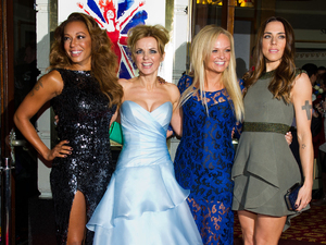 Melanie Brown, Geri Halliwell, Emma Bunton and Melanie Chisholm arrive at the press night of Viva andForever!, a new musical based on the songs of the Spice Girls.
