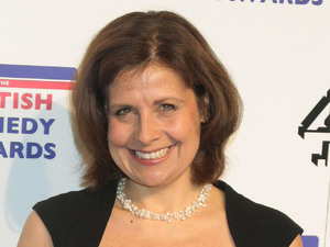 Rebecca Front arriving at the UK Comedy Awards