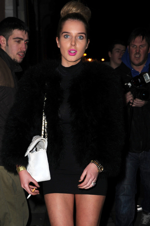 Celebrities leaving the X Factor finals held at the Manchester Convention Centre