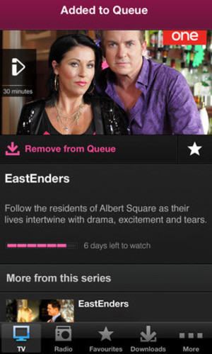 BBC iPlayer app screenshot
