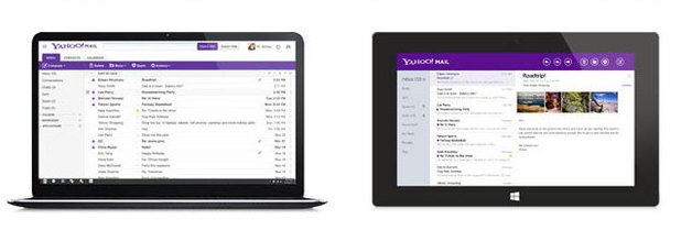 New Yahoo Mail for web and windows 8