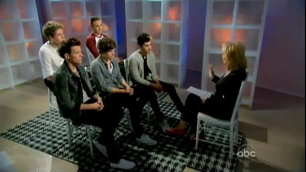 One Direction interviewed by US TV host Barbara Walters