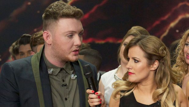 Caroline Flack interviews James Arthur after his X Factor win