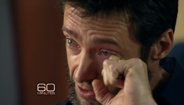 Hugh Jackman gets emotional while speaking on 60 Minutes