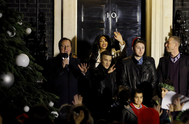 David Cameron, Nicole Scherzinger, James Arthur, Christopher Maloney, Jahmene Douglas