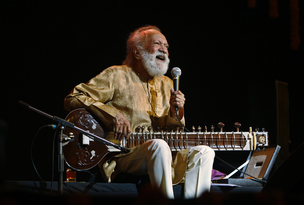 Ravi Shankar at a concert in Bangalore, February 2012