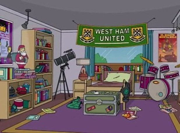 West Ham make an appearance on The Simpsons