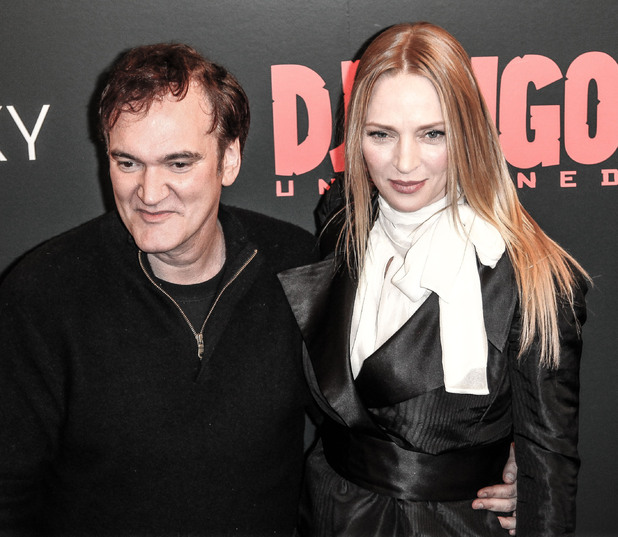 The Premiere of 'Django Unchained' held at the Ziegfeld Theatre - Arrivals Featuring: Quentin Tarantino, Uma Thurman Where: New York City, NY, United States When: 01 Jan 2000