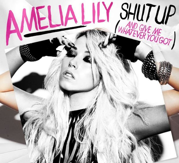 Amelia Lily 'Shut Up' single artwork.