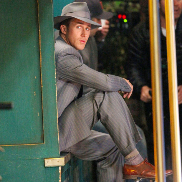 &#39;Gangster Squad&#39; film set, Los Angeles, America - 29 Nov 2011Ryan Gosling