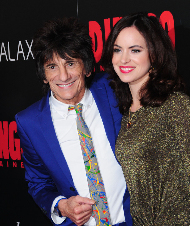 The Premiere of 'Django Unchained' held at the Ziegfeld Theatre Featuring: Ronnie Wood, Sally Humphries Where: New York City, NY, United States When: 11 Dec 2012