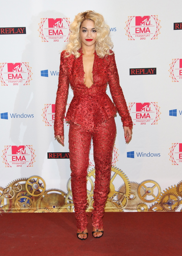 Rita Ora The MTV EMA's 2012 held at Festhalle - press room Frankfurt, Germany - 11.11.12Mandatory Credit: Lia Toby/WENN.com