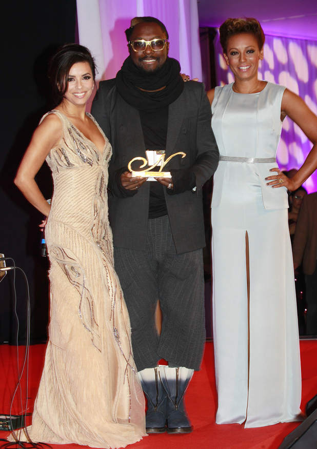 The Noble Gift Gala 2012 at ME London: Eva Longoria and Will.i.am and Mel B