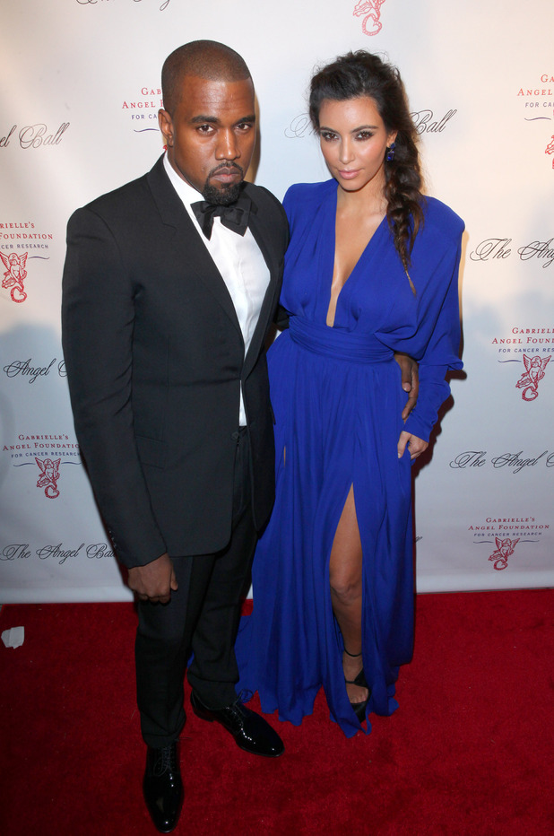 Miss Mode: Kim Kardashian and Kanye West attend the Angel Ball 2012 at Cirpiani Wall Street New York City, USA - 22.10.12 Mandatory Credit: PNP/ WENN.com