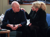 Phil shows Sharon a text from Peggy who doesn't want to be involved in Lexi's Christening.