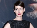 Anne Hathaway wears bondage-style heels at Les Misérables premiere in NYC.