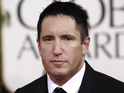 Trent Reznor arrives for the Golden Globe Awards, 2011