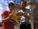 A winning team is announced on The Amazing Race.