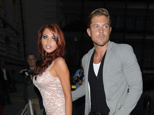 Amy Childs and David Peters outside the Smart Girls Fake It party held at Marriott Hotel County Hall London, England - 19.07.12 Mandatory Credit: Jaworski/WENN.com