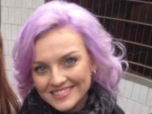 Perrie Edwards Little Mix with purple hair, Twitter pic