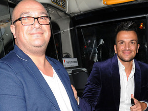 Peter Andre and his brother Andrew Andrem leaving the Piccadilly Theatre after watching the stage production of 'Ghost The Musical' London, England - 17.07.12 Credit Mandatory: WENN.com