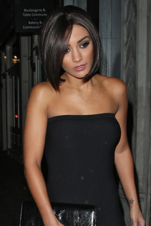 Frankie Sandford at a 90's fancy dress party dressed as Posh Spice of the Spice Girls. The party was for Aaron Renfree who was in S Club 8 with Frankie Featuring: Frankie Sandford Where: London, United Kingdom