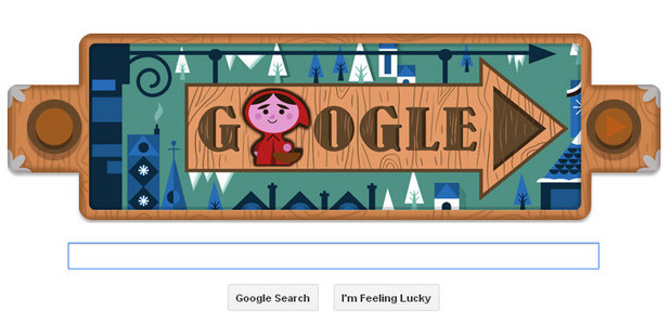 Google Doodle, Grimms Fairy Tales - Little Red Riding Hood