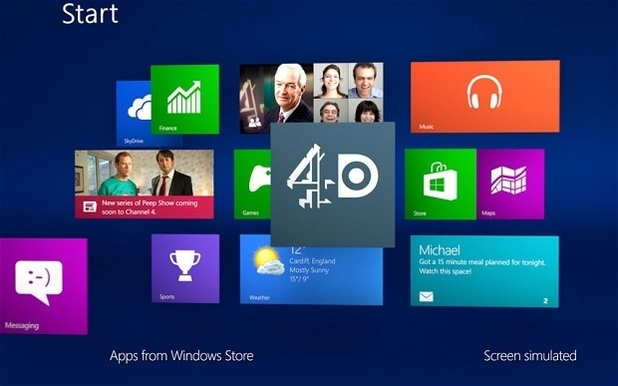 Windows 8 4oD application screenshot