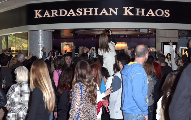 Atmosphere Fans gather outside Kardashian Khaos inside The Mirage Hotel & Casino to see sisters Kendall Jenner and Kylie Jenner Las Vegas, Nevada - 15.12.12 Mandatory Credit: Judy Eddy/WENN.com