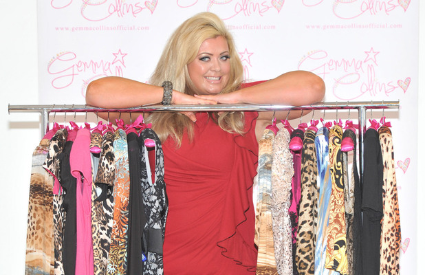 Gemma Collins extends her Gemma Collins Collection plus-size clothing range to launch new pieces for Autumn/Winter at the Worx Studios. London, England - 05.11.12 Mandatory Credit: Daniel Deme/WENN.com