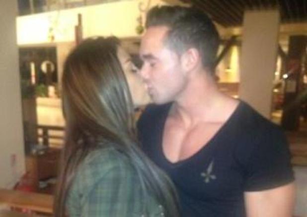 Katie Price kissing Kieran Kaine Hayler