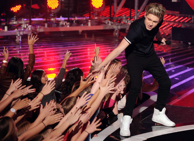 Niall Horan performs on US X Factor - 21 December 2012