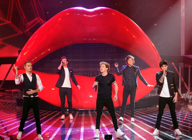 One Direction perform on US X Factor - 21 December 2012