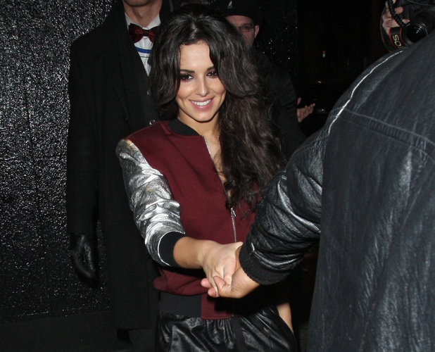 Celebrities leaving the Rose Club Featuring: Cheryl Cole Where: London, United Kingdom