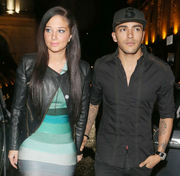 Tulisa Contostavlos and Danny Simpson arriving at Mahiki nightclub.