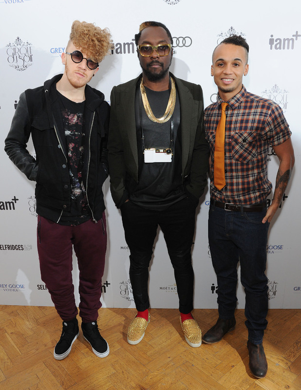 will.i.am and Aston Merrygold