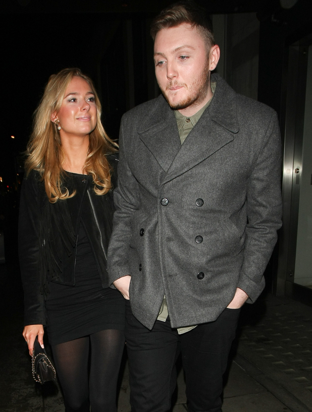James Arthur and Kimberley Garner leave Hakkasan together