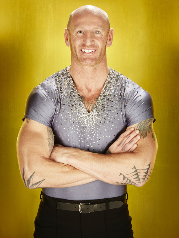 Rugby player Gareth Thomas appears on Dancing On Ice 2013
