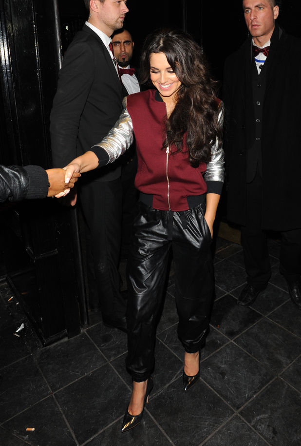 Celebrities leaving the Rose Club Featuring: Cheryl Cole Where: London, United Kingdom When: 21 Dec 2012