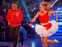 JLS singer lifts glitterball for his jive with Ola Jordan.