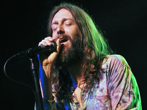 Chris Robinson of the Black Crowes performing at the Pompano Beach Amphitheater