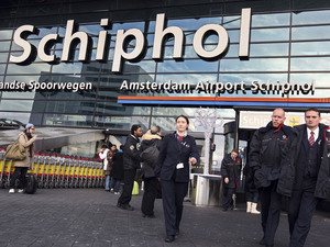 Schiphol airport in Amsterdam, Netherlands.