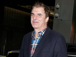 Chris Noth is seen walking with a  coffee in midtown Manhattan.