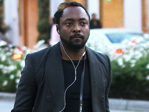 will.i.am doing some last minute Christmas shopping on Rodeo Drive