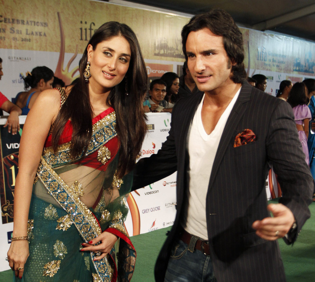 Kareena Kapoor and Saif Ali Khan arrive at the International Indian Film Academy in Sri Lanka, 2010.
