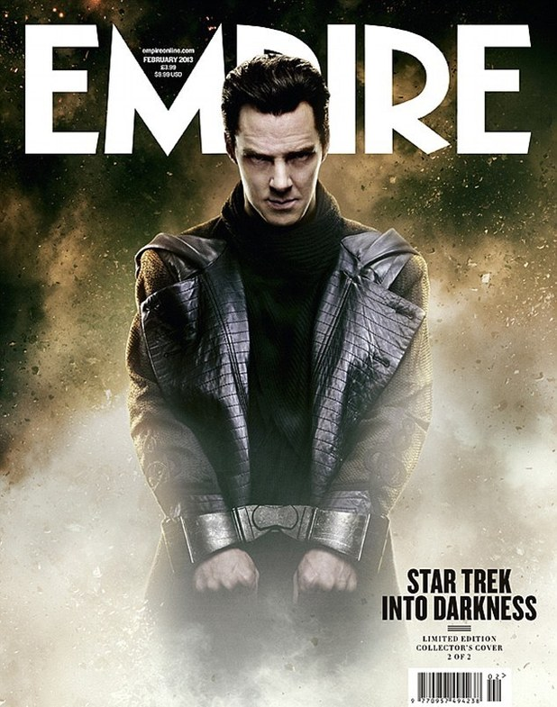 Benedict Cumberbatch as Star Trek's 'John Harrison', Empire magazine cover
